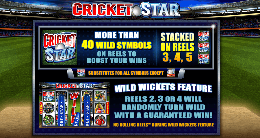 Cricket Star Slot Wild Wickets Feature